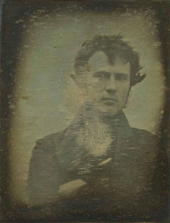 Robert Cornelius, self-portrait, Daguerreotype, 1839
