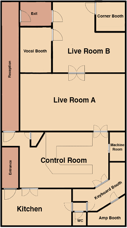 Floorplan for The Chairworks residential recordin st
