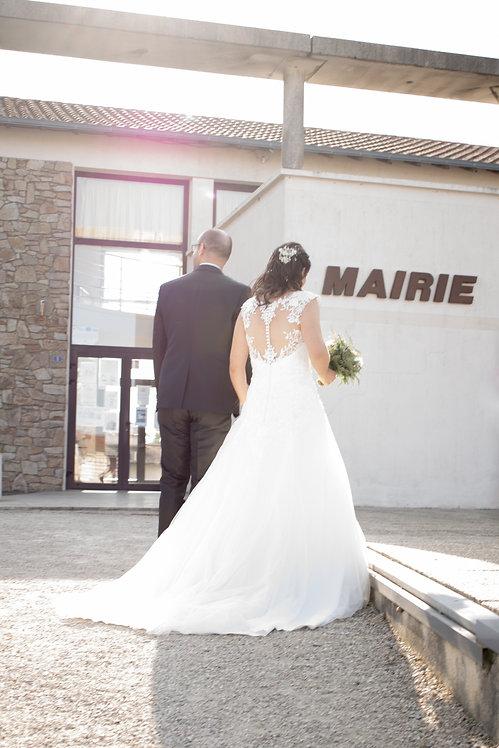 Arrivée a la mairie, on vas dire oui, photographe de mariage, maine-et-loire 49