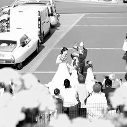 Arrivée des mariés