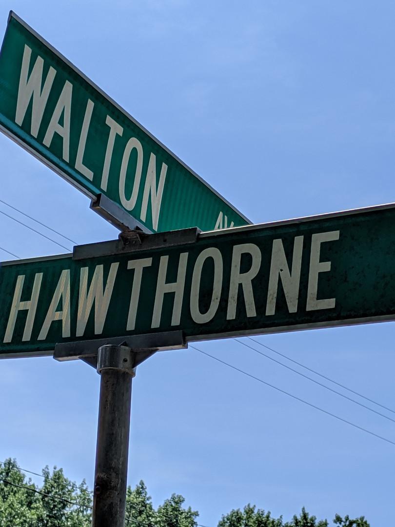 The corner of Hawthorne & Walton Avenues