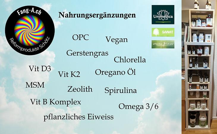 Nahrungsergänzung bio vegan fang a schötz laden beratung kaufen