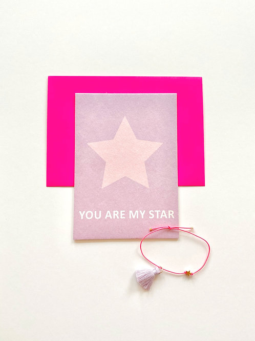 KARTE MIT ARMBAND: YOU ARE MY STAR