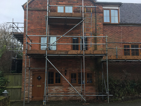 Lintels and wall stabilisation on Farm house