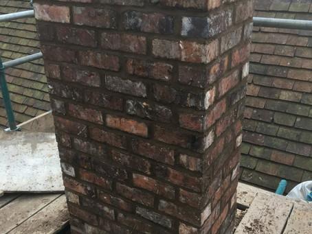 Chimney rebuild in Conservation area
