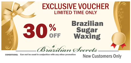 Brazilian sugar wax voucher