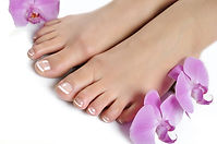 Delux nail pedicure treatment with french tips
