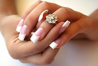 SNS Nail Manicure french style