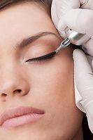 Semi permanent eyeliner example