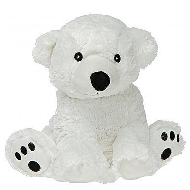Peluche bouillotte ours blanc