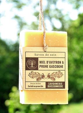 Savon Bio - Miel d'Aveyron & Prune de Gascogne