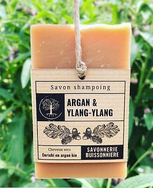 Shampoing Bio - Argan & Ylan Ylang Savon Shampoing Argan & Ylang-Ylang
