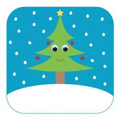 Carte de Noël aux yeux qui bougent! -Sapin