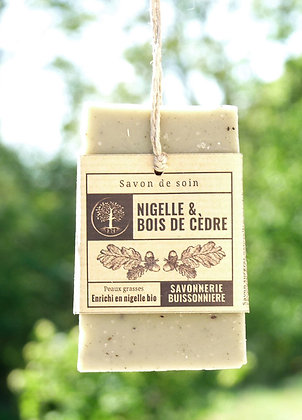 Savon Bio et Vegan - Nigelle & Bois de Cèdre