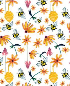 Carte a planter fleurs jaune abeilles
