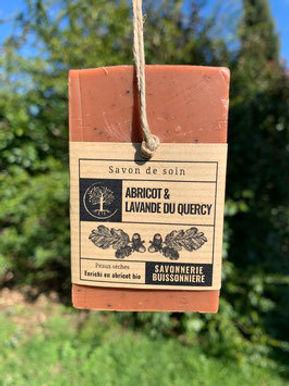 Savon Bio & Vegan abricot et lavande du Quercy - peaux sèches