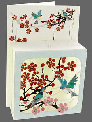 Carte Pop Up 3D -Fleurs de Cerisiers