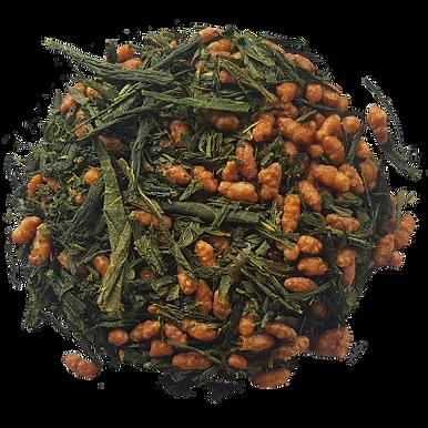 thé vert Bio - Japon genmaicha - Vrac 100g