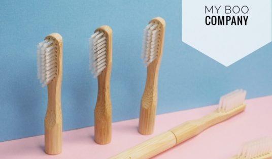 Brosse à dents écologique , à tête amovible