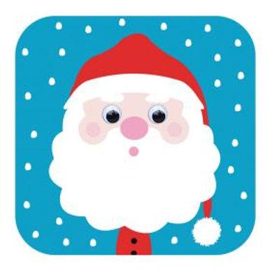 Carte de Noël aux yeux qui bougent! -Père Noel
