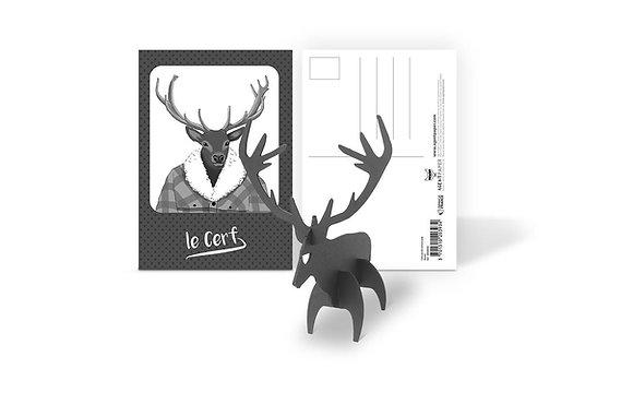 Carte Cadeau Cerf - A construire