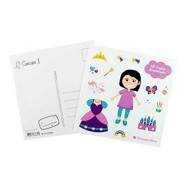 Carte Anniversaire - Stickers Princesse