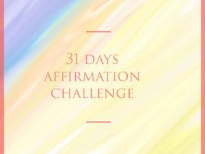 31 Day Affirmation Challenge