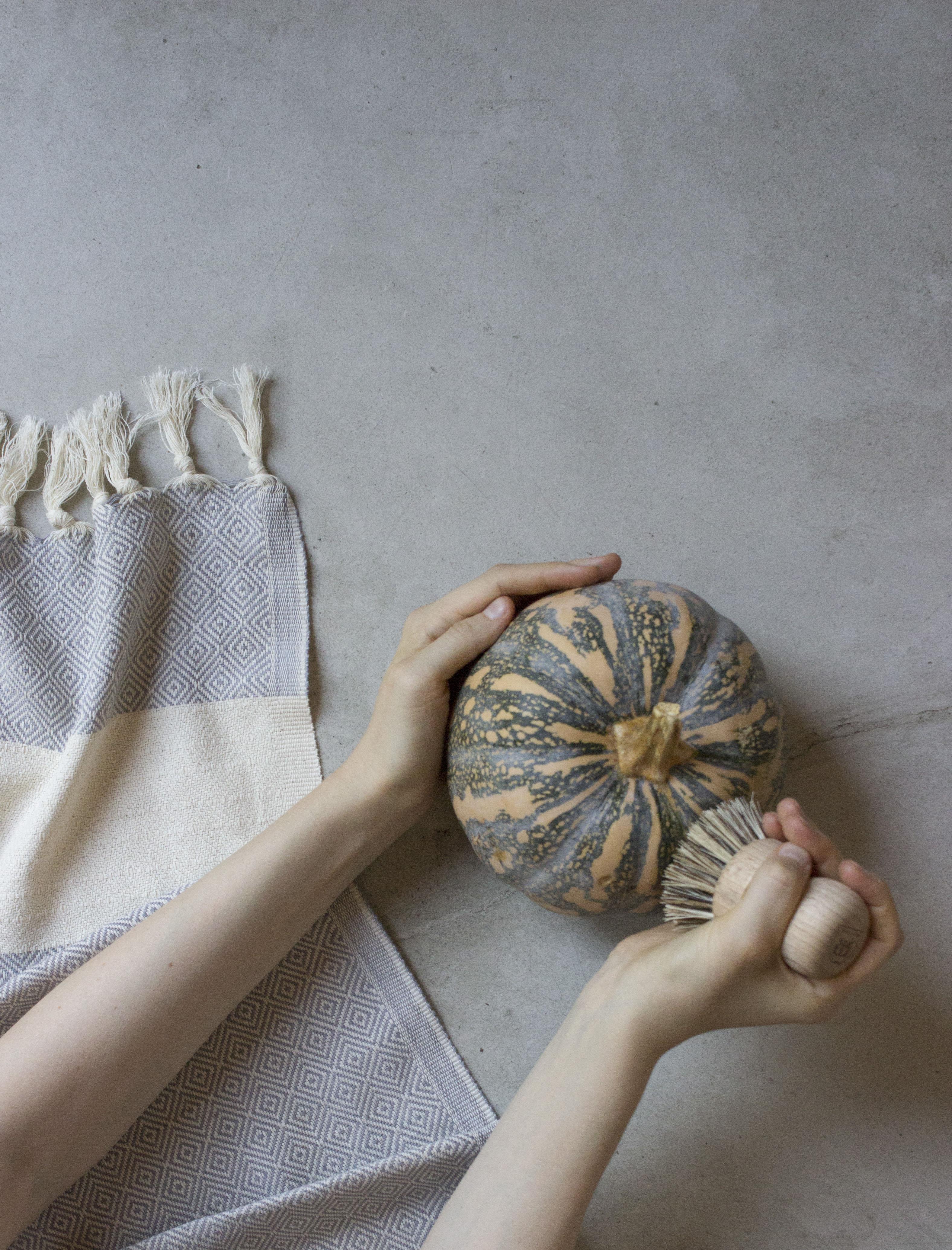 Brushing pumpkin low res