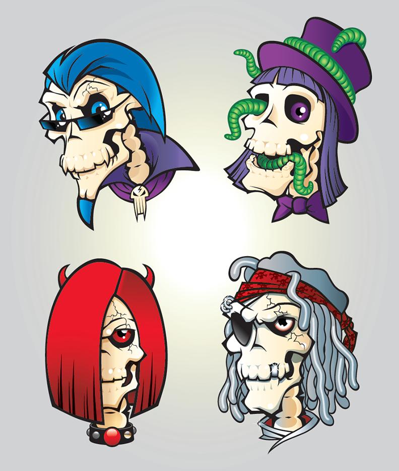 skulls | fright night packaging