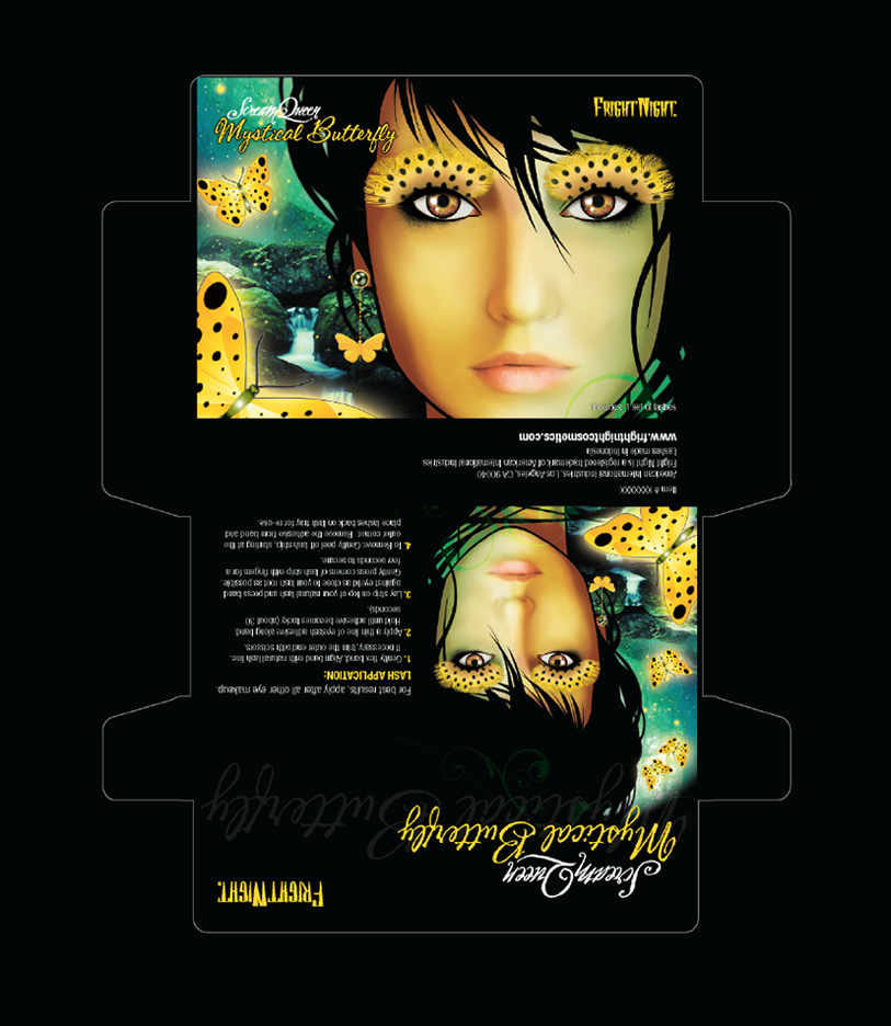 scream queen lashes | packaging