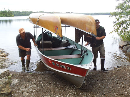 Boundary Waters Canoe Trip towing services.