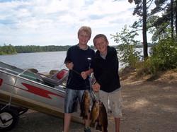 Jake and Mason's fish: BWCA fishing