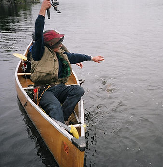 BWCA Fishing: Fishing from a canoe.