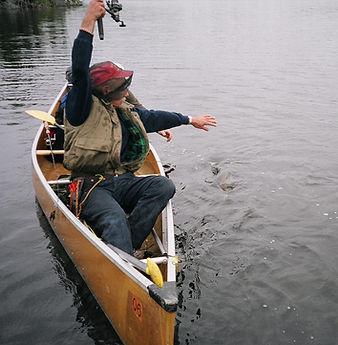 BWCA Fishing: Fishing from a canoe.