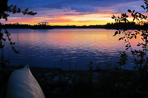 BWCA sunset, Canoe Ely Minnesota