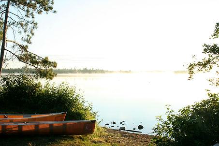 BWCA Sunrise, Canoes, Packsack, Ely Minnesota