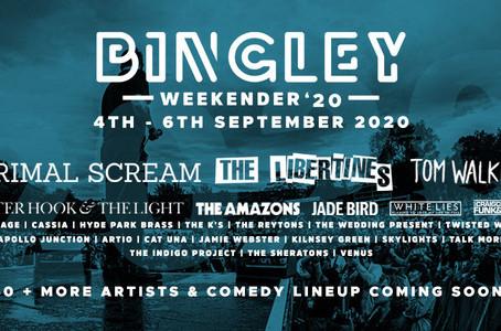 First Headliners Announced for Bingley Weekender 2020