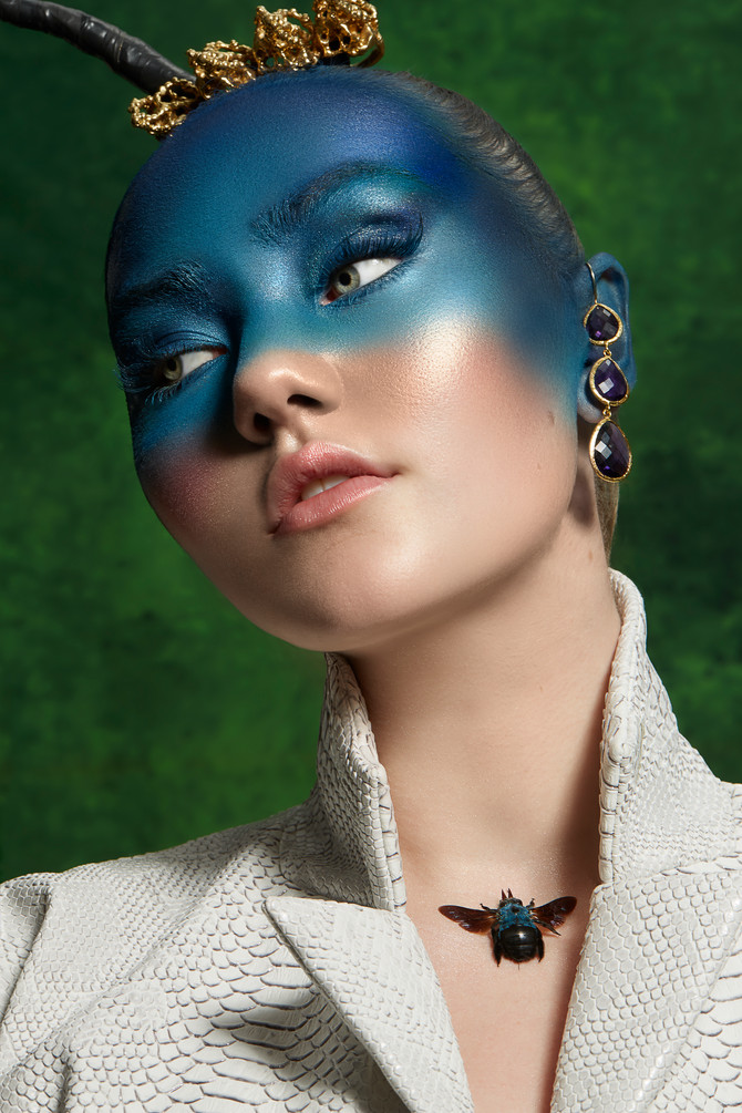 Beauty Editorial for HUF Magazine