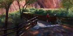 boy on a bridge