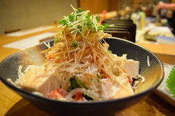 豆腐とごぼうのパリパリサラダ