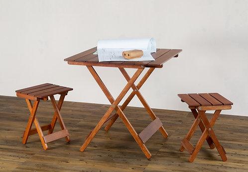 Set Meja Kursi Lipat Tivoli - 1 Meja Makan Lipat Tivoli & 4 Kursi Lipat Tivoli