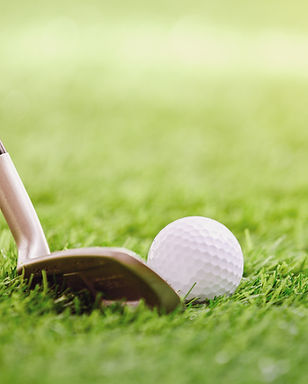 Golf Club och Ball