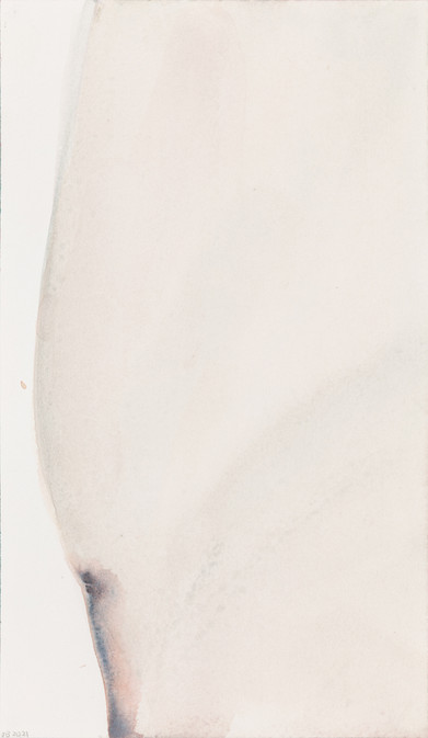'Daring greatly', 2021, watercolour on paper, 30 x 19 cm