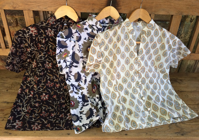 Block-printed cotton shirts India