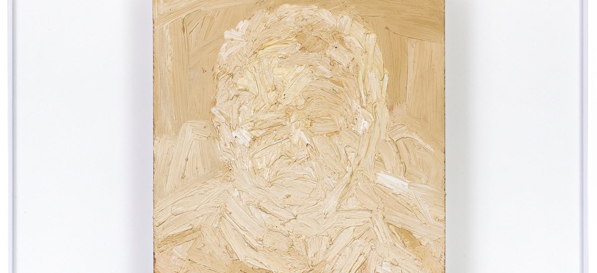 'With Alberto in mind', 2012, oil on sandstone, 61 x 61 cm | framed