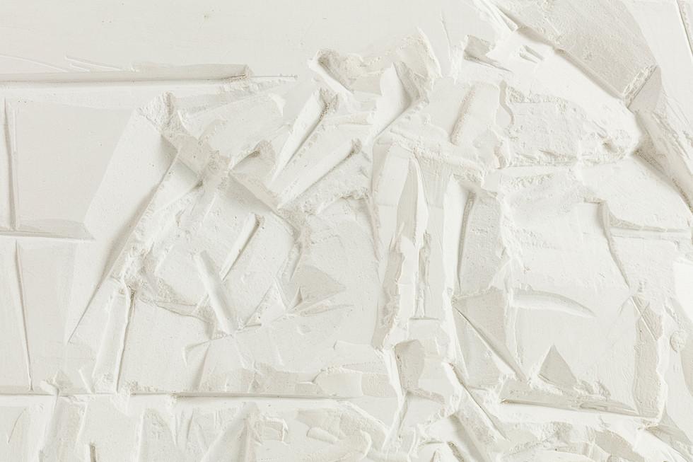 'Architectonic', 2020, WhatsApp sitting, plaster of Paris, 29 x 30 x 2cm (detail)