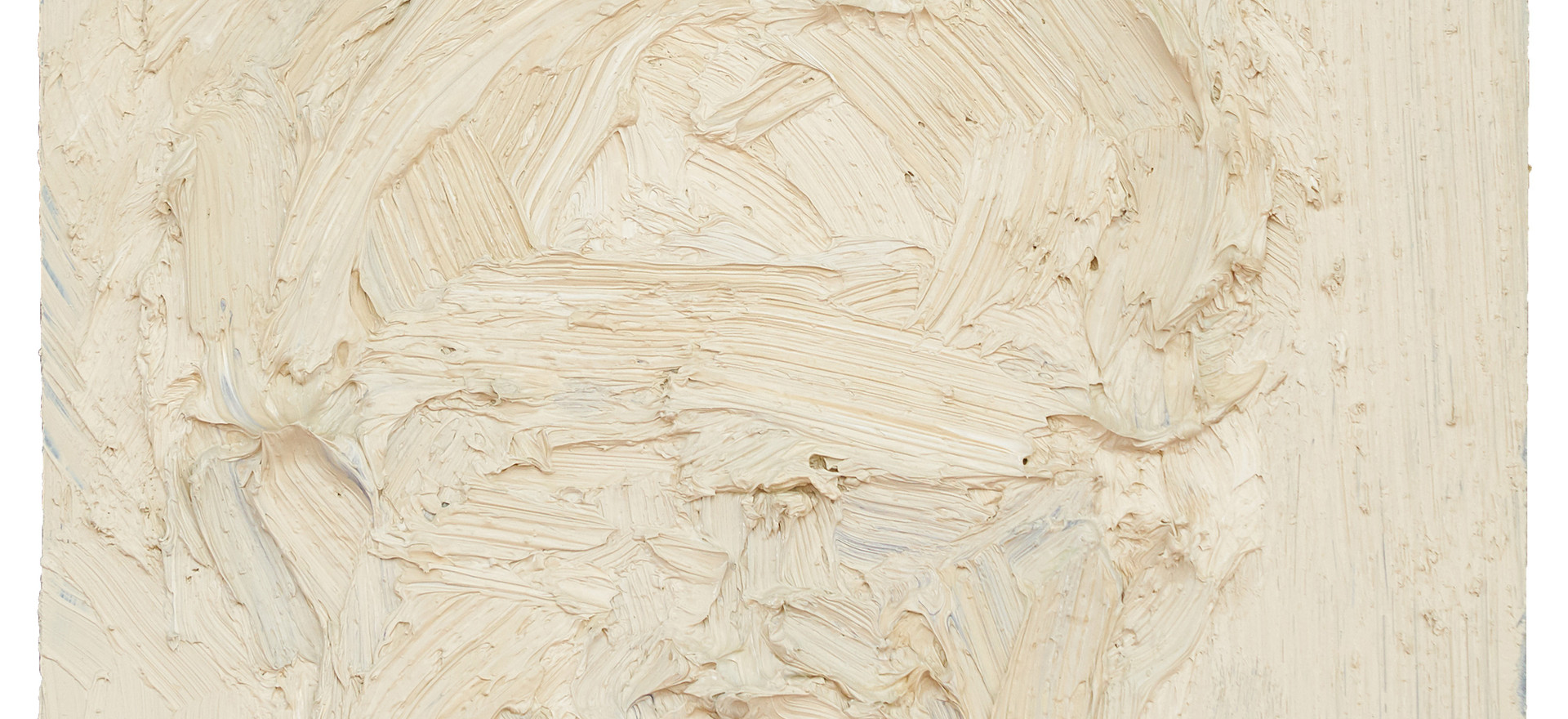'Brow', 2015, oil on granite, 30.5 x 30.5 x 3 cm