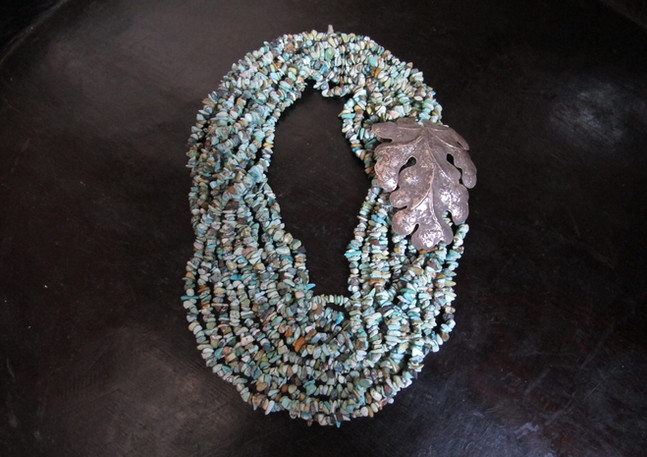 Turquoise and Thai silver
