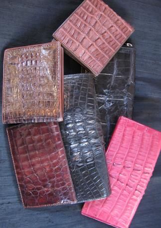 Crocodile skin wallets