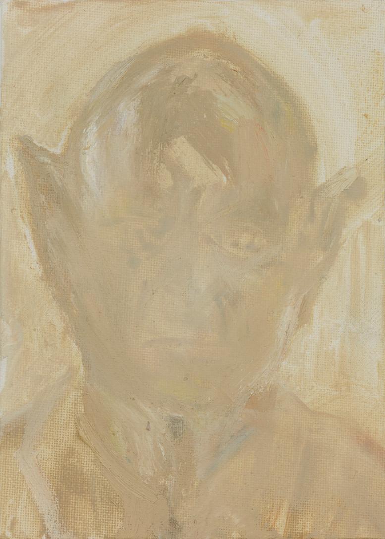 'Gossamer', 2019, oil on canvas, 17.5 x 12.5 cm